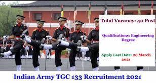 Indian Army TGC 133 Recruitment 2021